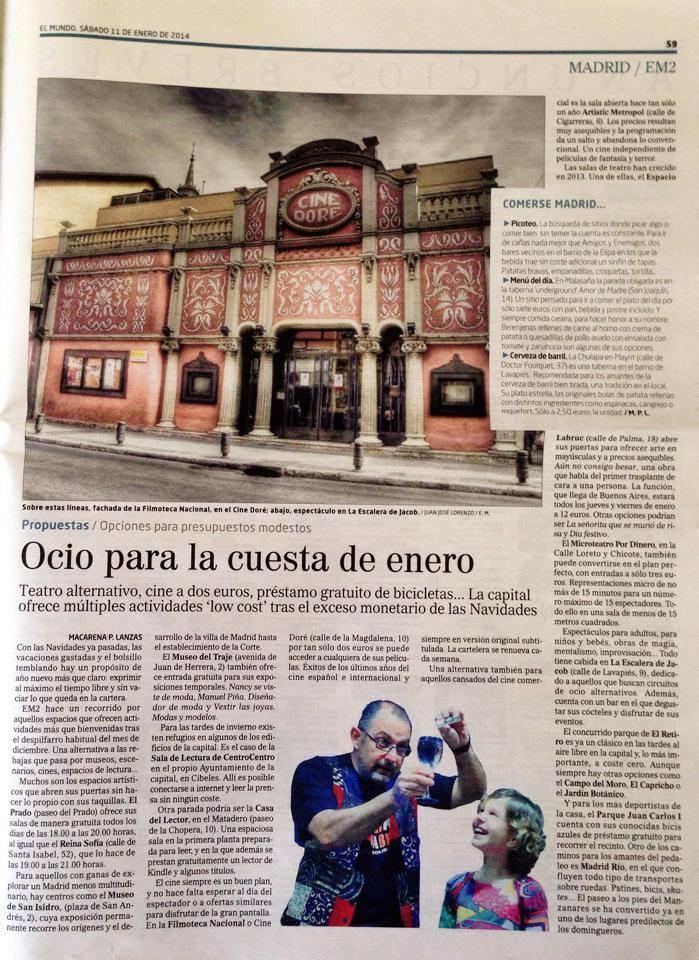 Animaciones Mágicas en el periódico EL MUNDO