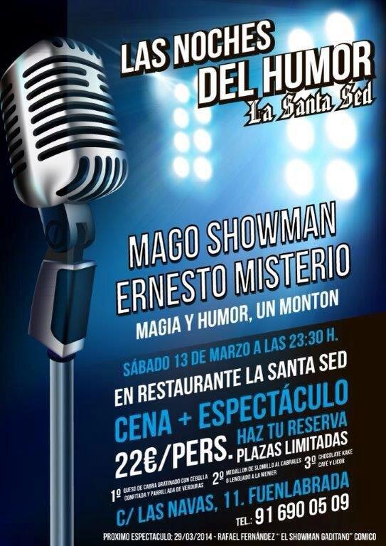 EL MAGO SHOWMAN ERNESTO MISTERIO